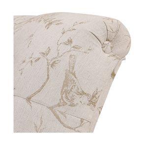 Méridienne droite en hévéa blanc et tissu paradisier - Eugénie - Visuel n°7