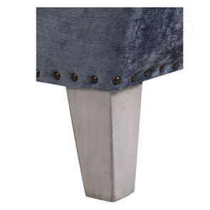 Méridienne gauche en tissu velours bleu - Eugénie - Visuel n°6