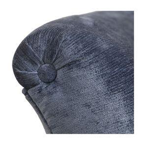 Méridienne gauche en tissu velours bleu - Eugénie - Visuel n°7