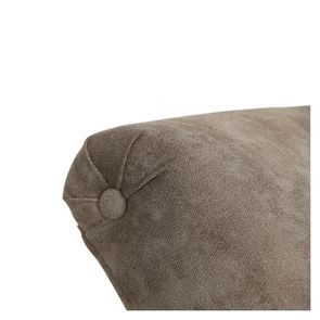 Méridienne gauche en tissu velours taupe - Eugénie - Visuel n°2