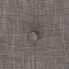 Méridienne gauche en hévéa blanc et tissu gris chambray - Eugénie - Visuel n°11