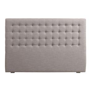 Tête de lit capitonnée 180 en hévéa et tissu beige - Capucine