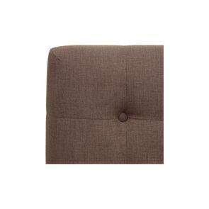 Tête de lit capitonnée 180 en frêne et tissu marron glacé - Capucine