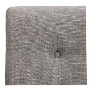 Tête de lit capitonnée 180 en hévéa et tissu gris chambray - Capucine