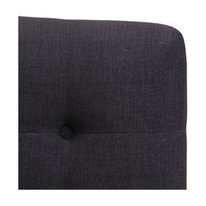 Tête de lit capitonnée 180 en frêne et tissu anthracite - Capucine