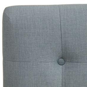 Tête de lit capitonnée 180 en frêne et tissu vert sauge - Capucine