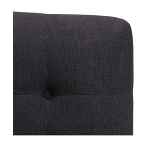 Tête de lit capitonnée 180 en frêne et tissu anthracite - Capucine - Visuel n°2