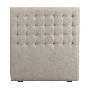 Tête de lit capitonnée 90 en frêne et tissu mastic grisé - Capucine