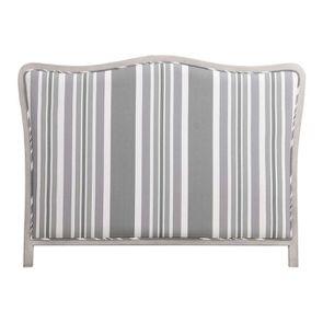 Tête de lit 140/160 cm tissu bayadère gris - Joséphine