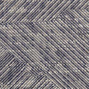 Tête de lit 140/160 cm sans capitons en tissu mosaïque indigo - Joséphine - Visuel n°6