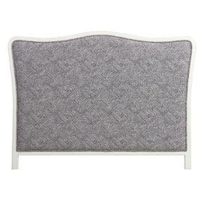 Tête de lit 140/160 cm sans capitons en tissu mosaïque indigo - Joséphine