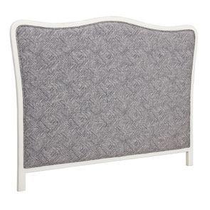 Tête de lit 140/160 cm sans capitons en tissu mosaïque indigo - Joséphine - Visuel n°2