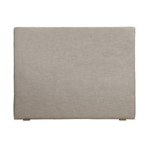 Tête de lit 140/160 cm tissu beige sans capitons – Capucine
