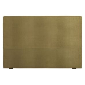 Tête de lit 180 cm velours vert sans capitons - Capucine