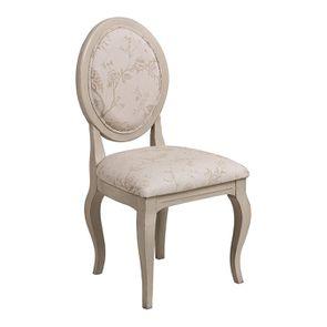 Chaise médaillon en tissu Paradisier - Hortense - Visuel n°2