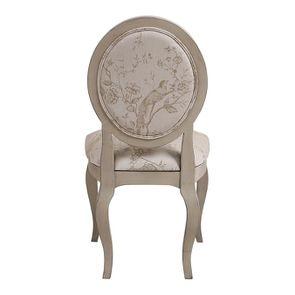 Chaise médaillon en tissu Paradisier - Hortense - Visuel n°4