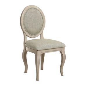 Chaise médaillon en tissu vert amande - Hortense - Visuel n°2