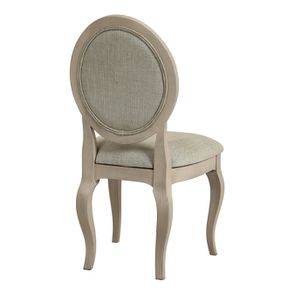 Chaise médaillon en tissu vert amande - Hortense - Visuel n°4