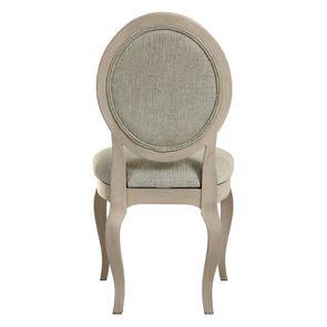 Chaise médaillon en tissu vert amande - Hortense - Visuel n°5