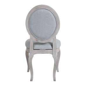 Chaise médaillon en tissu bleu glacier - Hortense - Visuel n°4