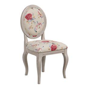 Chaise médaillon en tissu jardin anglais - Hortense - Visuel n°2