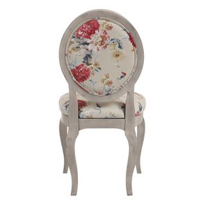 Chaise médaillon en tissu jardin anglais - Hortense - Visuel n°5
