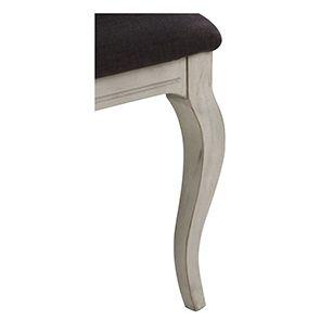 Chaise médaillon en tissu gris anthracite et hévéa - Hortense - Visuel n°2