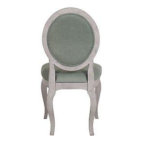 Chaise médaillon en tissu et hévéa - Hortense - Visuel n°7