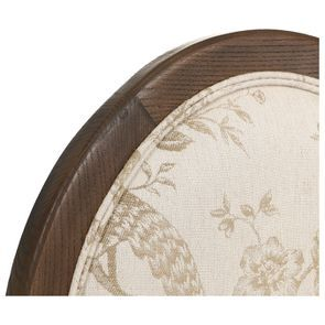 Chaise médaillon en tissu paradisier et frêne massif - Hortense - Visuel n°8