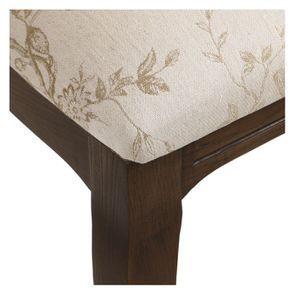 Chaise médaillon en tissu paradisier et frêne massif - Hortense - Visuel n°9