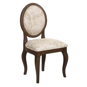 Chaise médaillon en tissu paradisier et frêne massif - Hortense - Visuel n°2