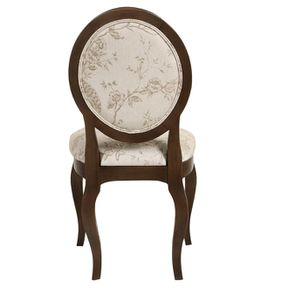 Chaise médaillon en tissu paradisier et frêne massif - Hortense - Visuel n°5