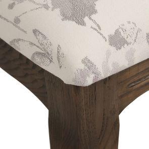 Chaise médaillon en tissu fleurs opaline - Hortense - Visuel n°8