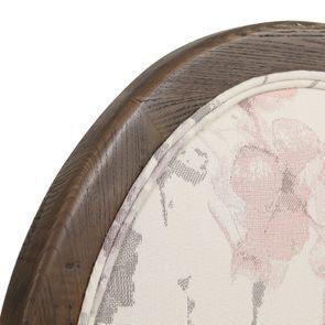Chaise médaillon en tissu fleurs opaline - Hortense - Visuel n°9