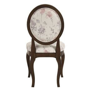 Chaise médaillon en tissu fleurs opaline - Hortense - Visuel n°5