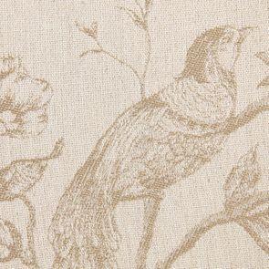 Chaise médaillon en tissu paradisier et bois noir - Hortense - Visuel n°7
