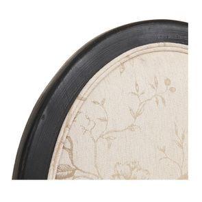 Chaise médaillon en tissu paradisier et bois noir - Hortense - Visuel n°8