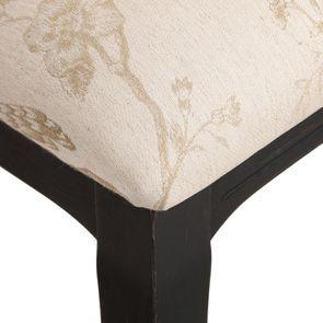 Chaise médaillon en tissu paradisier et bois noir - Hortense - Visuel n°9