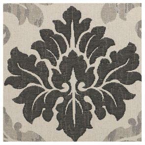Chaise médaillon en bois noir et tissu arabesque - Hortense
