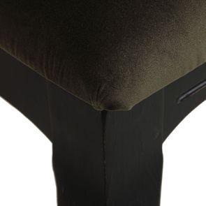 Chaise médaillon en tissu velours kaki - Hortense - Visuel n°8