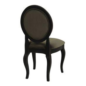 Chaise médaillon en tissu velours kaki - Hortense - Visuel n°4