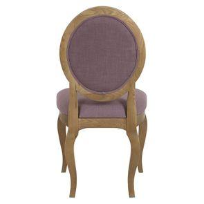 Chaise médaillon en tissu violet - Hortense - Visuel n°3