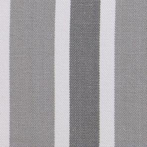 Chaise médaillon en tissu Bayadère gris et frêne massif - Hortense - Visuel n°7
