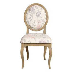 Chaise médaillon en tissu - Hortense - Visuel n°1