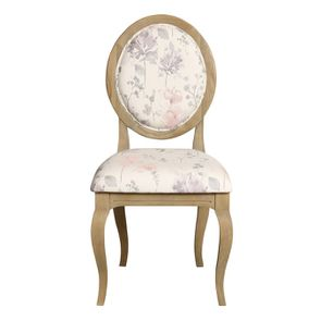 Chaise médaillon en tissu - Hortense