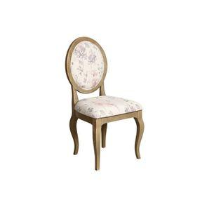 Chaise médaillon en tissu - Hortense - Visuel n°2