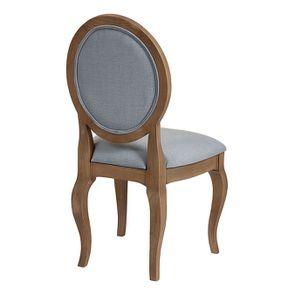 Chaise médaillon en tissu vert sauge - Hortense - Visuel n°3