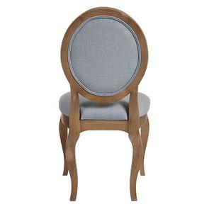 Chaise médaillon en tissu vert sauge - Hortense - Visuel n°4