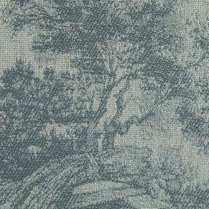 Chaise médaillon en tissu toile de Jouy - Hortense - Visuel n°7