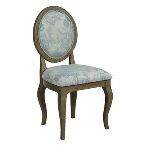 Chaise médaillon en tissu toile de Jouy - Hortense - Visuel n°2